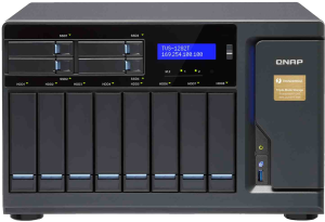 The QNAP TVS-1282T-i7-32G Thunderbolt NAS with PCIe slots and DDR4 RAM