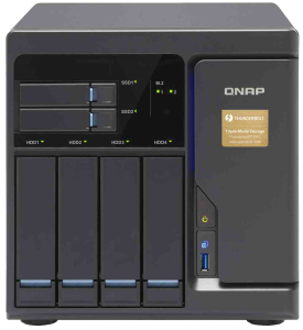 The QNAP TVS-682T-i3-8G Thunderbolt NAS with PCIe slots and DDR4 RAM