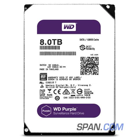 WD Surveillance HDD 8TB Drive WD80PUZX