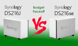 The Synology DS216J versus The DS216se Budget NAS Comparison - Low in power but which deserves your data