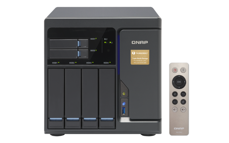 The QNAP TVS-682T-i3-8G Thunderbolt 2 NAS with 10GBe, 4K HDMI, SSD Cache and more Unboxing Video with SPAN 1