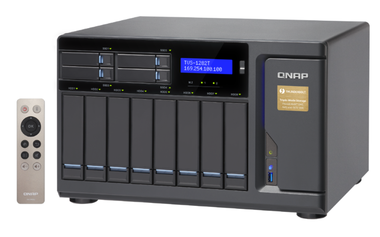 The QNAP TVS-1282T-i7-32G 12-Bay (8+4 Bay) Thunderbolt 2 NAS Unboxing and Walkthrough 1