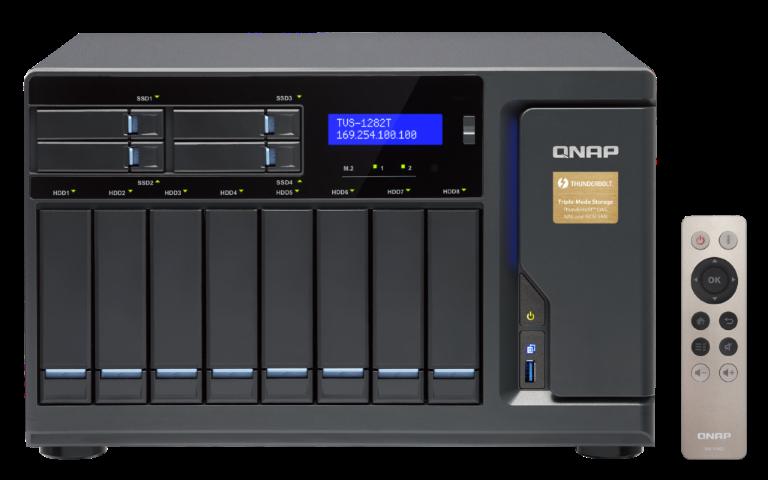 The QNAP TVS-1282T-i7-32G 12-Bay (8+4 Bay) Thunderbolt 2 NAS Unboxing and Walkthrough 5