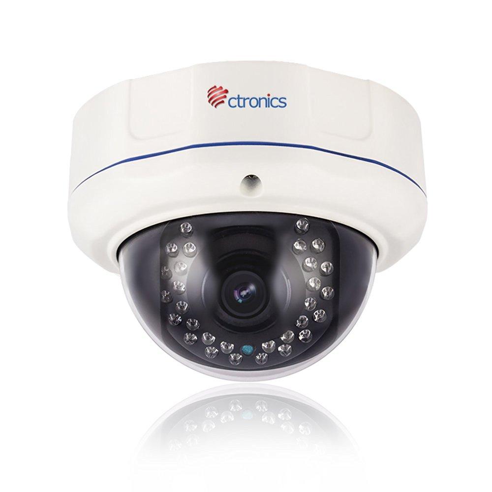 Ctronics PoE Security Dome IP Camera Security 2 Megapixel 1920 x 1080 Pixel 4X Optical Zoom