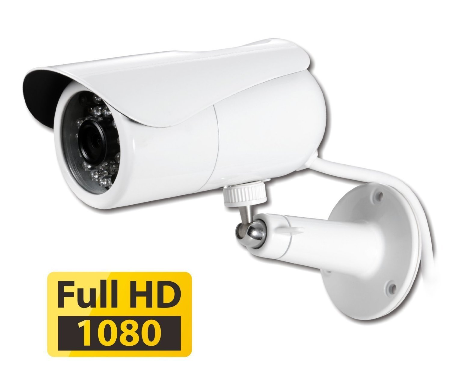 PHYLINK Bullet HD1080, Waterproof Outdoor Home Security Network IP Camera, True Day Night Vision, HD 1080P High Definition, Wireless WiFi, PoE, Motion Detection triggered Email Alert
