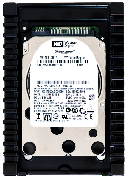 The WD Velociraptor Super Fast HDD