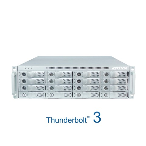 The Netstor NA333TB3 3U 16 bay Thunderbolt3 Storage and PCIe Expansion for Mac and Windows 1