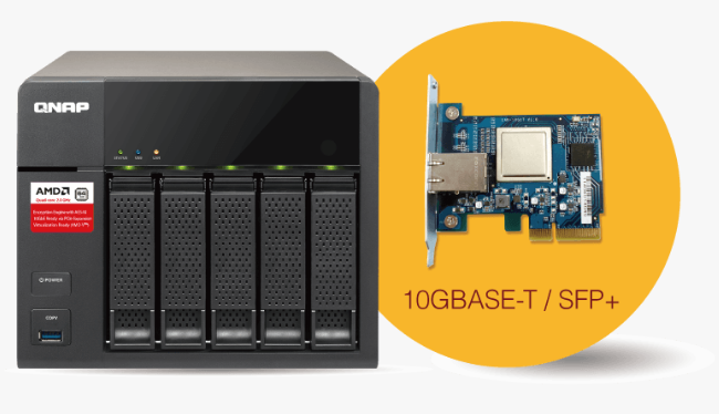 The QNAP TS-563 NAS Price to Buy compare results 10gbe upgrade card