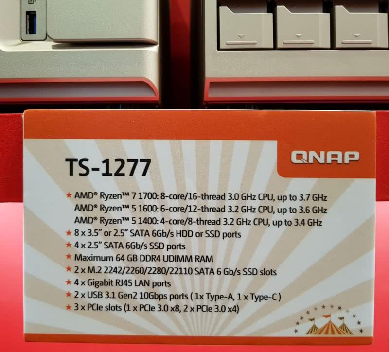 The QNAP TS-1277 12 Bay Gold Series POWERHOUSE NAS 2