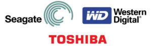 seagate hdd and wd hdd in nas or desktop pc logo