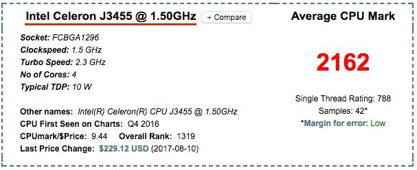 Intel Celeron J3455 ds718+ NAS CPU