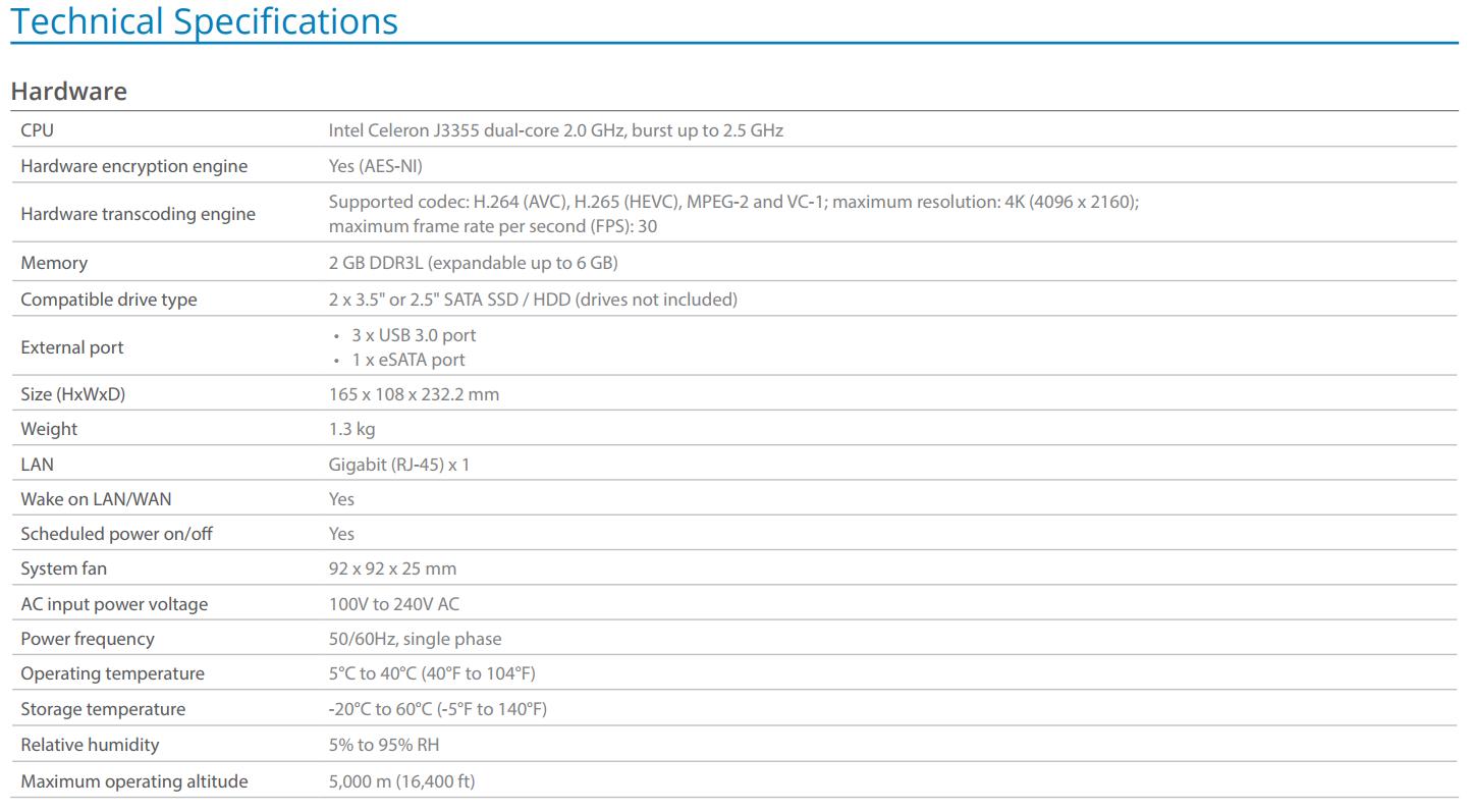 The Synology DS218+ 2-Bay Diskstation NAS Server – Specs And Details Revealed 2