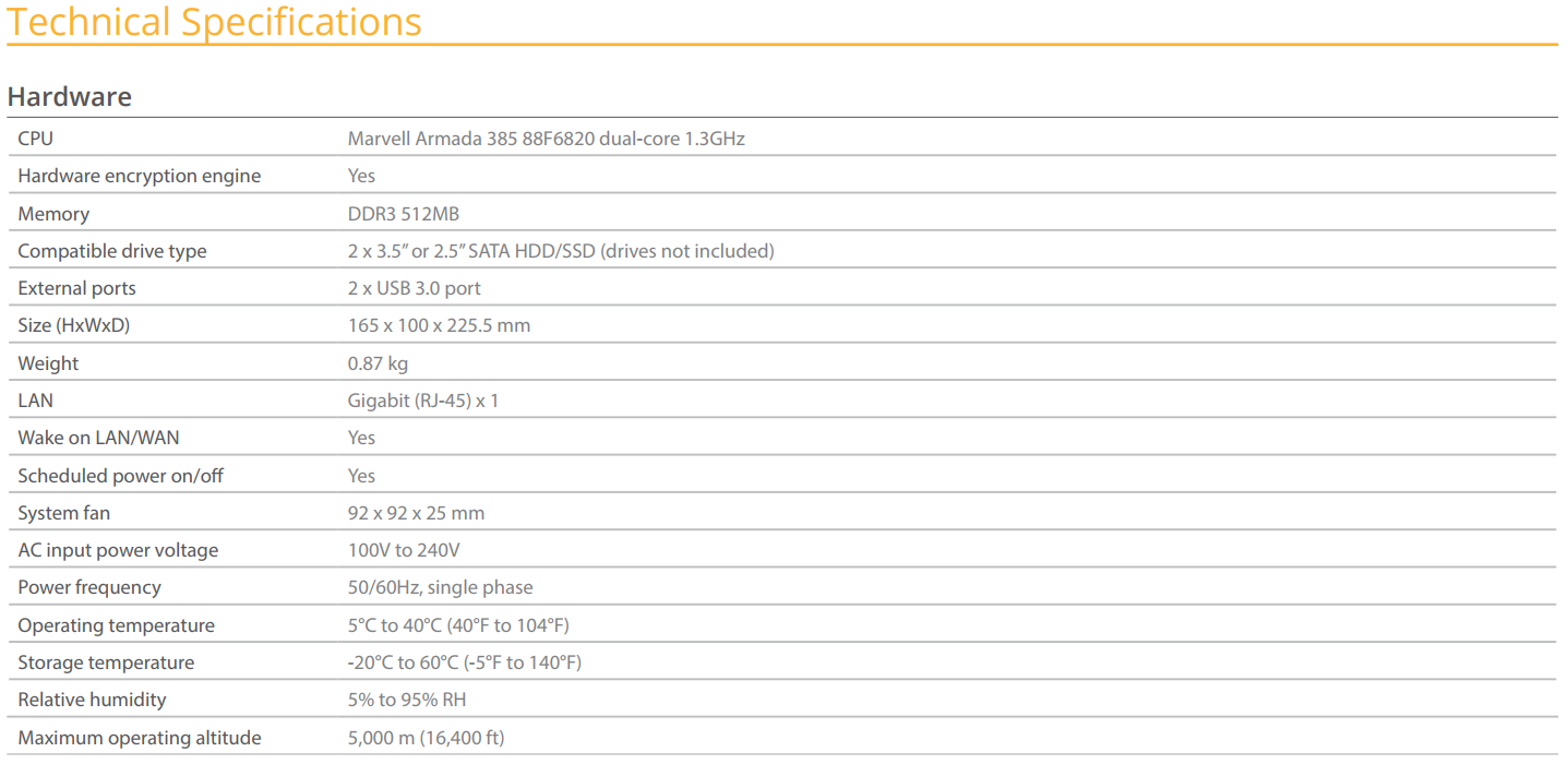 DS218J Specs and Data Sheets available 6