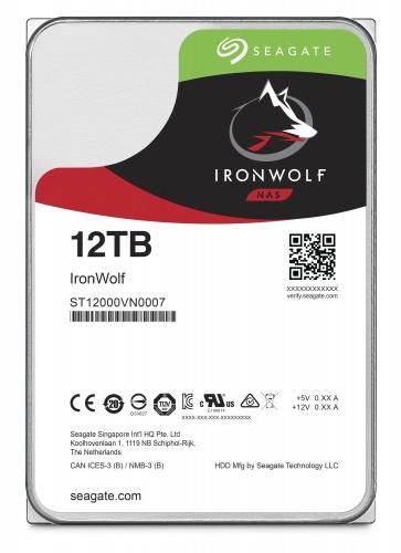 Seagate IronWolf NAS ST12000VN0007 3.5 SATA 6Gbs 12TB 7200rpm
