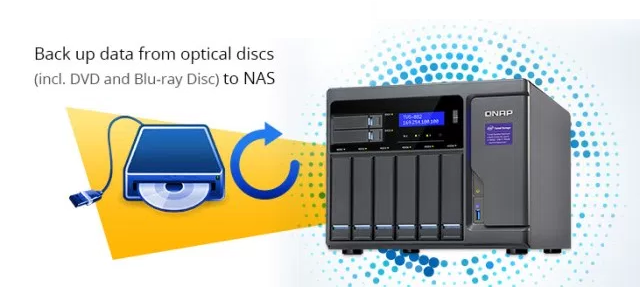 backup dvd blue ray to NAS